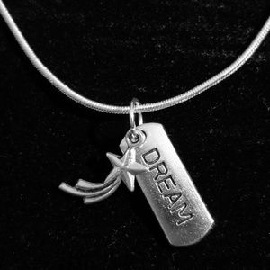 Shooting Star Wish  .925 Sterling Silver Necklace